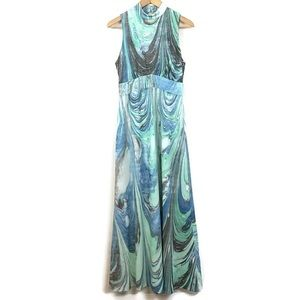 Don Luis De Espana Maxi Dress Gown VTG Marbled 12
